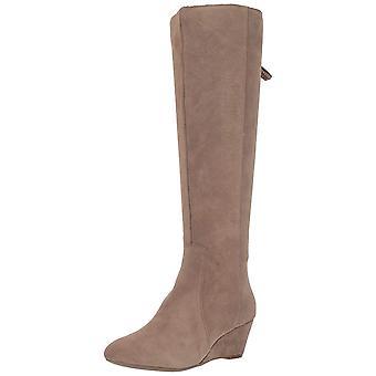 Anne Klein Womens Akazriel Suede Almond Toe Knee High Fashion Boots