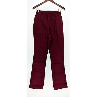 Denim & co. leggings TS strekk tall Boot cut burgunder rød A01725