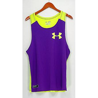 Heat Gear Activewear Tank Jersey Color Blocked Yellow / Purple PTC