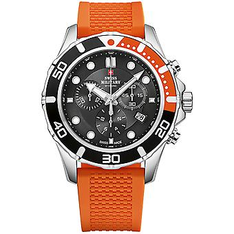 Swiss Military Swiss Quartz Analog Man Watch with SM34044.05 Rubber Bracelet