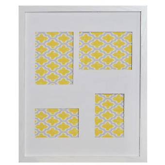 GAD MULTIPHOTOS 4 WHITE WITH DECORATIVE SHEET 54X44X1,9 CM (Decoration , Frameworks)