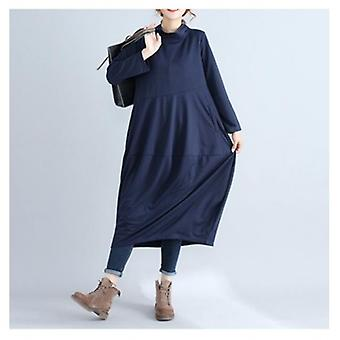 Casual Loose Long Sleeved Maxi Dress