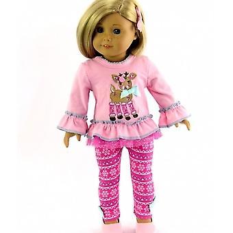 """18 """"Puppenkleidung, Rentierpant-Set"""