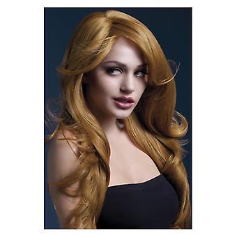 Feber Nicole Wig, Auburn, mjuk våg med Side sära, 66cm/26 in maskeraddräkter tillbehör
