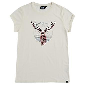 Animal Prizm Short Sleeve T-Shirt in Coconut Cream