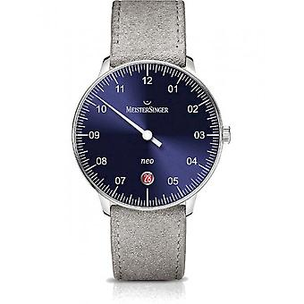 MeisterSinger Men's Watch One-Hand Clock with Additional Function Automatic Neo NE908N_SV16