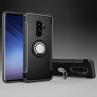 Samsung S9 + hybrid armor shell magnetic case black