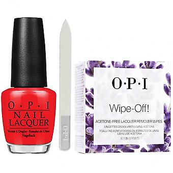 OPI Big Apple Red Shape and Remove Set (3 Pieces Set)