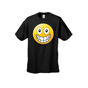 Menn ' s T skjorte store smilende ansikt kort ermet