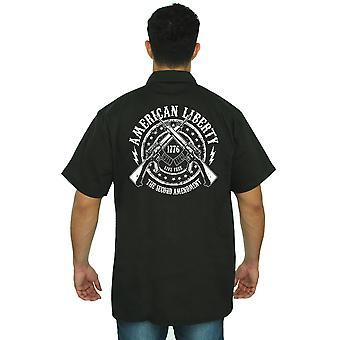 Trabajo mecánico camiseta Liberty americana la 2ª enmienda hombres en vivo gratis