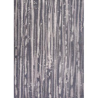 5' x 7'& Poliéster Charcoal Area Rug