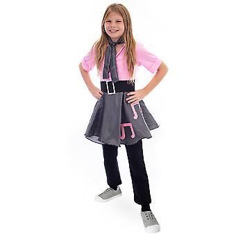 50s Sock Hop Costume Poodle Skirt, 8-10