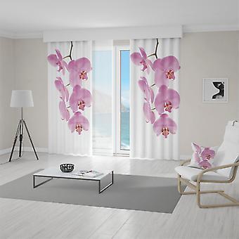 Cortina de Meesoz - orquídea cor-de-rosa
