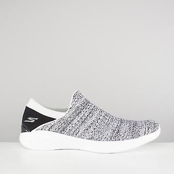 Skechers You Ladies Lightweight Trainers White/black