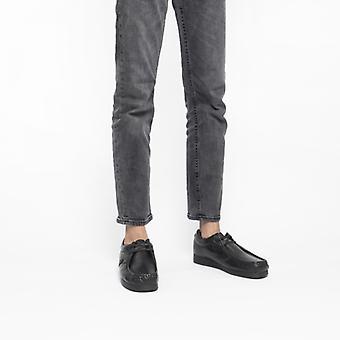 Baza Londra Storm Mens piele Moccasin Pantofi negru
