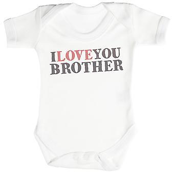 Eu te amo irmão bebê Bodysuit / Babygrow