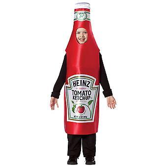 Heinz Ketchup Classic Bottiglia Rosso Pomodoro Salsa Lavoro Bambini Ragazzi Costume 7-10