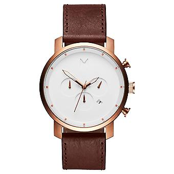 MVMT Chrono Rose Gold Tan Men's Watch wristwatch leather MC01-RGDBR