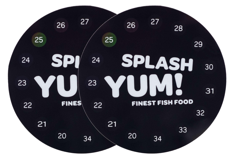 SplashYum! Digitales Aquarium Thermometer rund selbstklebend direkt auf Glasscheibe mit präziser Temperaturanzeige