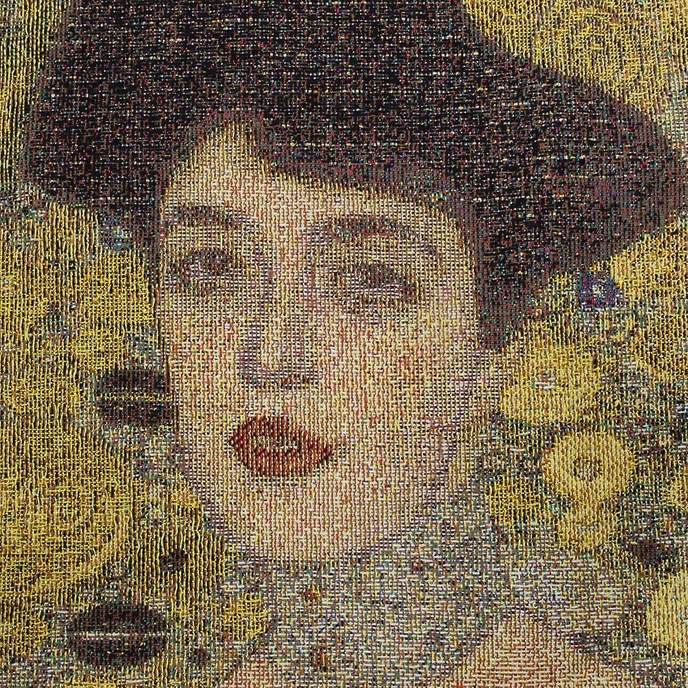 Gustav klimt - woman in gold wall hanging by signare tapestry / 100cm x 100cm / wh-gk-wgd