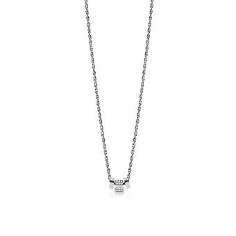 Gissa kärlek knut UBN78038 halsband och hänge-halsband och hänge stål ring kristaller Swarovski kvinnor