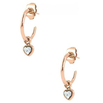 Earrings The InterchangeableS A59249 - Creoles Heart PM Dor Rose