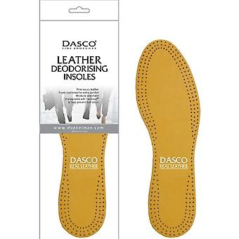 Adults Dasco Textured Leather Deodorising Insoles
