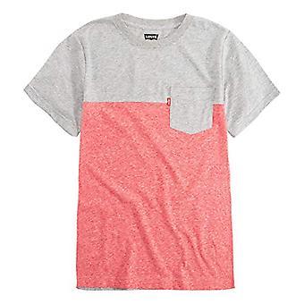 Levi ' s drenge ' lille en lomme T-shirt, rød snegarn/grå, 5