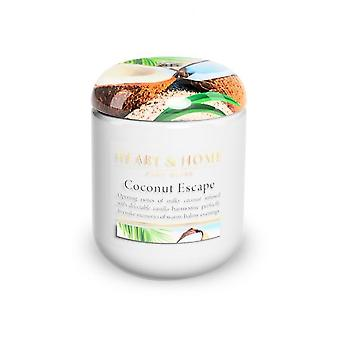 Heart & Home Small Jar Candle Coconut Escape