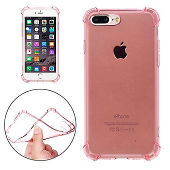 Voor iPhone 8 PLUS,7 PLUS Case, Shockproof Grippy Transparent Cover, Rose Gold