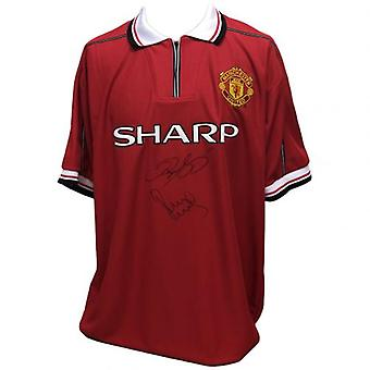 Manchester United Giggs & Scholes Signed Shirt