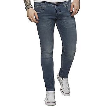 Eto Jeans | Apt Em580 Lsw Skinny Hyper Stretch Reflex Denim Jean - Blue