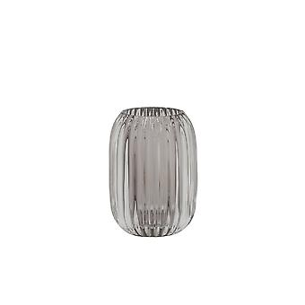 Light & Living Tealight 9.5x13cm - Pertu Clear Glass And Grey