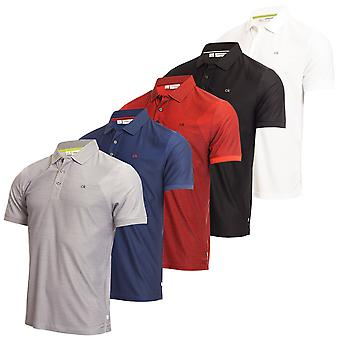 Calvin Klein Mens Quartz-Tec ademend vocht Wicking Golf Polo Shirt