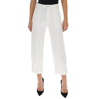 See By Chloé Chs20sdp03163101 Women's White Cotton Jeans