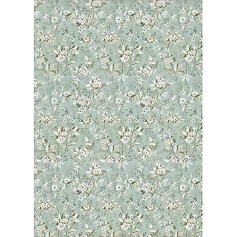 Stamperia Rice Paper Sheet A4-Jasmine On Light Blue Background