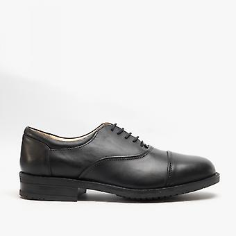 Roamers Adrian Mens Leather Oxford Smart Shoes Black