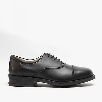 Roamers Adrian heren lederen Oxford Smart schoenen zwart
