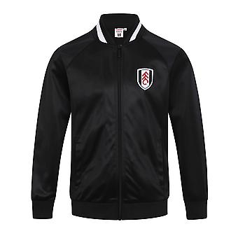Fulham FC Official Football Gift Boys Retro Track Top Jacket