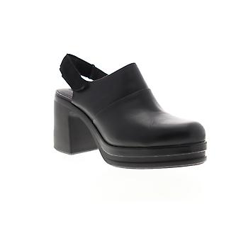 Camper Alice  Womens Black Leather Heels Strap Pumps Shoes