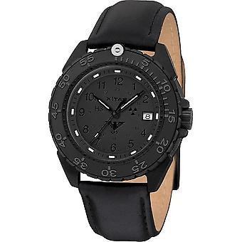 אוכף גברים שעון יד שחור פלדה XTAC CR עור-הרצועה. ENFBSCRXT. אני