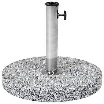 Charles Bentley 15Kg Runde Granit Sonnenschirm Basis Stein Regenschirm Stand