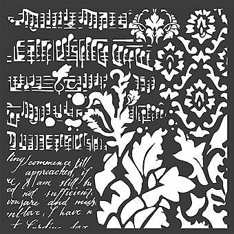 Stamperia Thick Stencil 18x18cm Wallpaper Fantasy