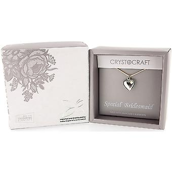 Crystocraft Special Bridesmaid, Made with Swarovski Crystals Necklace In Box SP620B