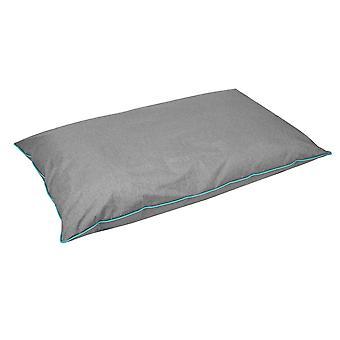 Weatherbeeta impermeável travesseiro cama de cachorro-cinza/turquesa