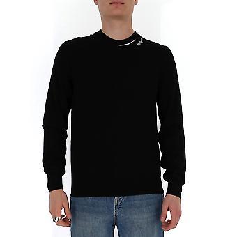 Alexander Mcqueen 603241q1wyd1001 Men's Black Wool Sweater