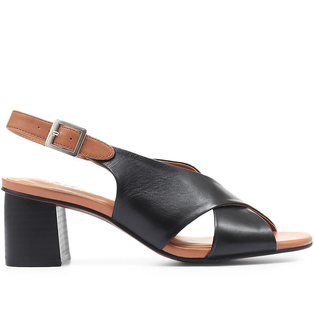 Regarde Le Ciel Womens Block Heeled Slingback Sandals