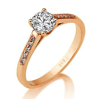 1/2 karat H SI2 diamant Engagement Ring 14k Rose Gold Classic Ring Vintage Ring unikke Ring