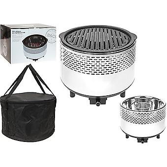 Summit Smokeless Al Fresco B&Co Grill,Portable Charcoal, Stainless Steel Outdoor kitchen - White