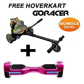 G PRO Pink Chrome Segway con un Racer Hip Hop Hovercart